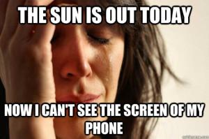 phone in sun