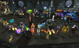 """World of Warcraft can see as many as 40 people taking part in a """"raid"""" together."""