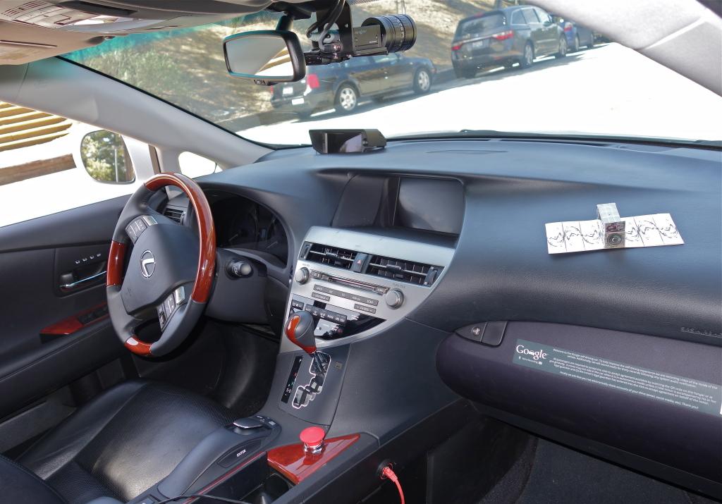 Inside Google Car
