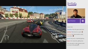 A Twitch broadcast, streaming gameplay from Xbox One