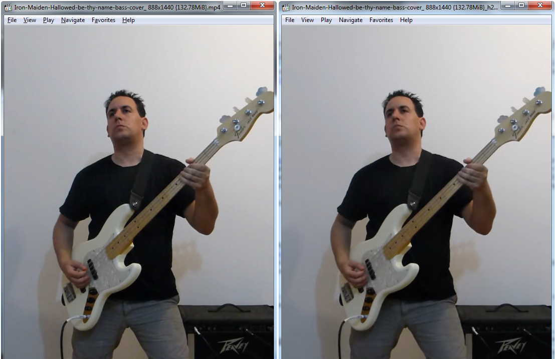 Use the H.265 compressor to reduce the size of your downloaded videos without losing any quality. (See quality comparison in picture above).